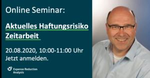 Online-Seminar Haftungsrisiko Zeitarbeit